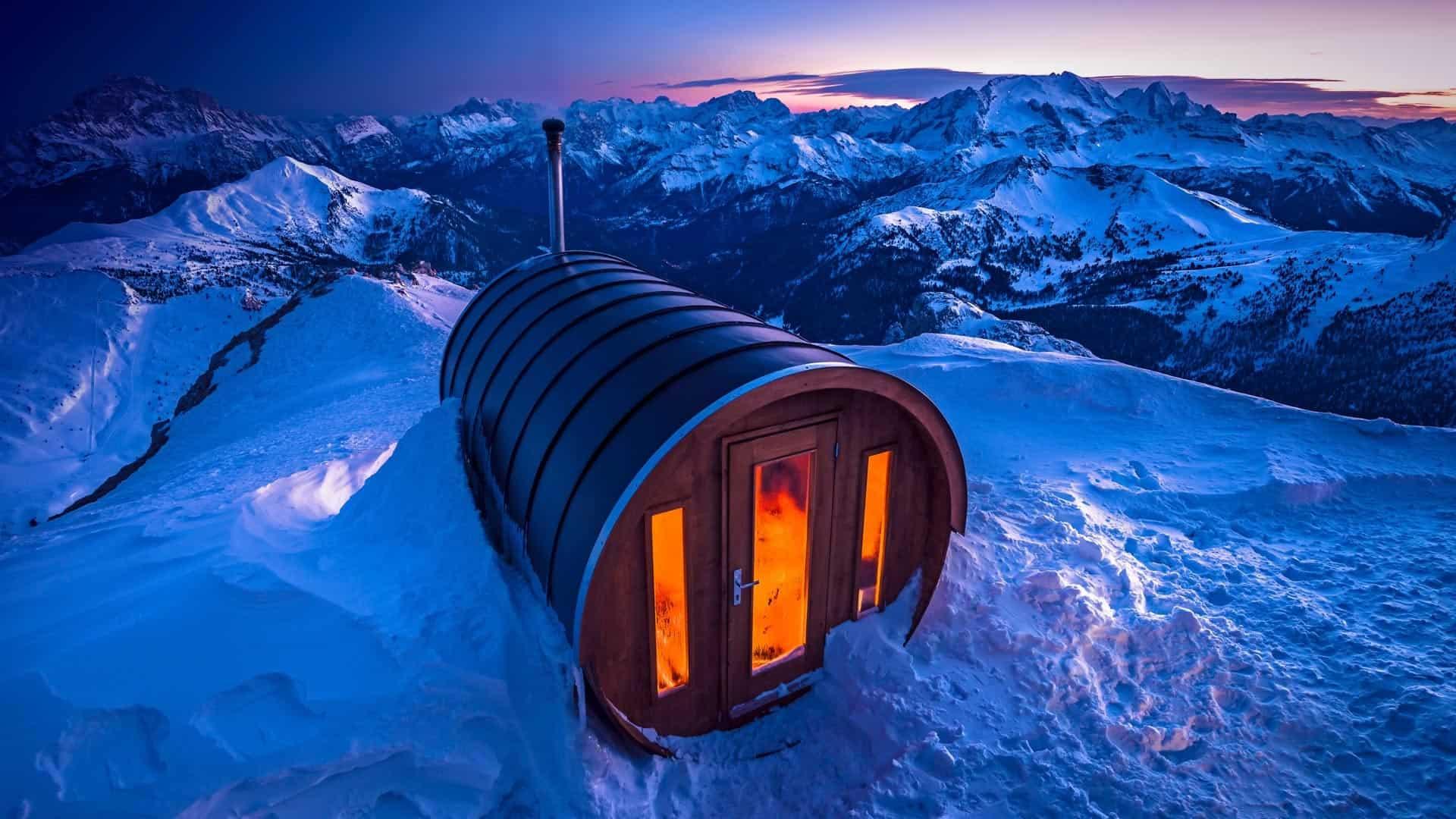 Rifugio Lagazuoi in the Italian Dolomites