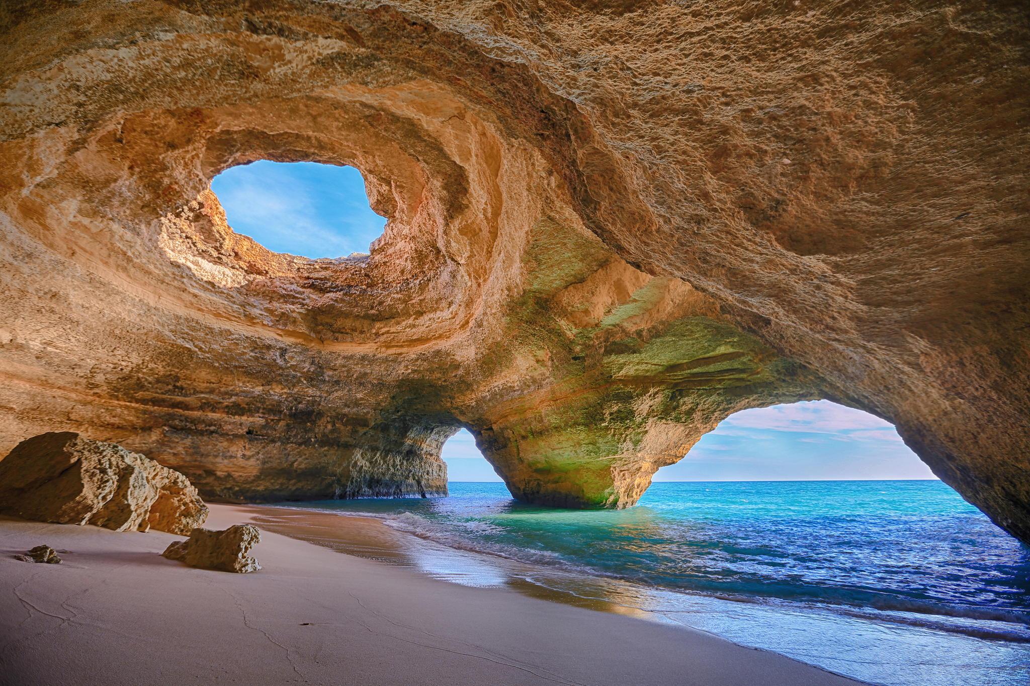 Epic caves in Algarve, Portugal.