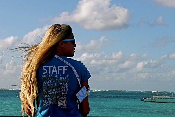 18 or 19 years old, staffing grad trips in the Caribbean.