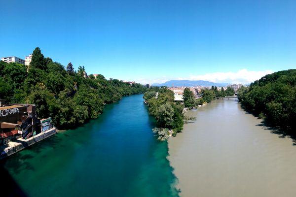 La Jonction, where two rivers meet.