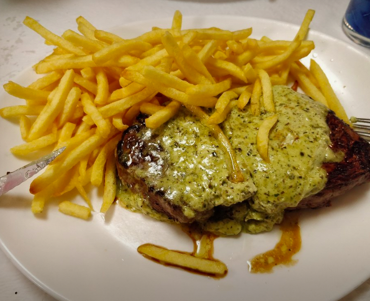 Steak Frites at La Limite.