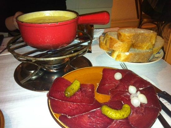Cheese fondue at Cafe du Soleil.