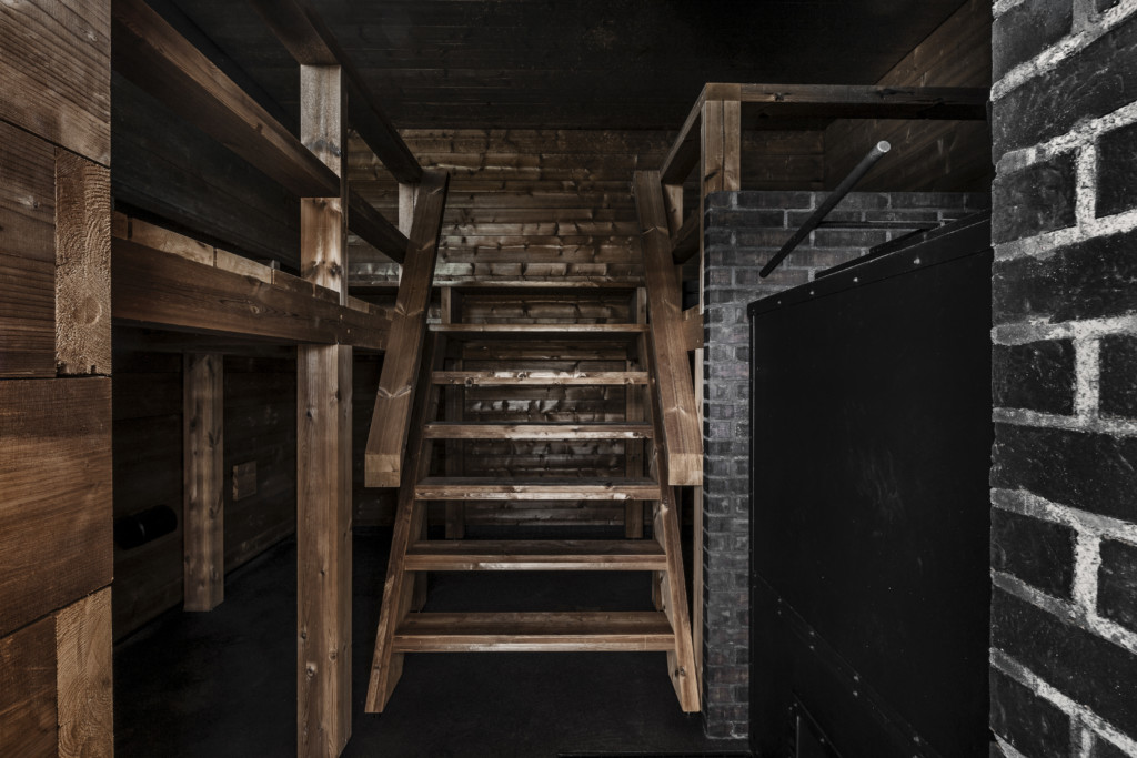 Inside the smoke sauna. (Image: Löyly)