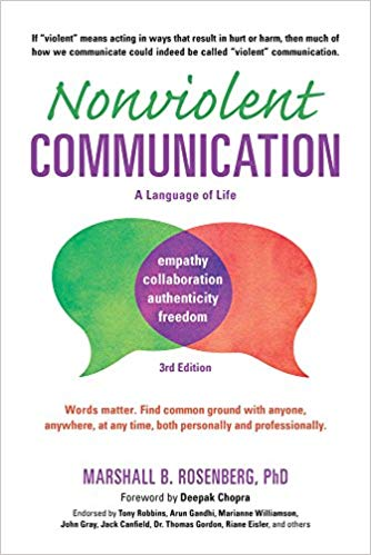 Nonviolent Communication by Marshall B. Rosenberg - Thi is the bible. Rosenberg has written many variations, but if this article speaks to you (pun intended), read this book.