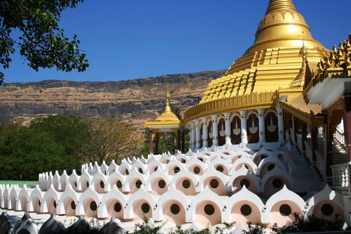 The Dhamma Giri Vipassana centre, in India.