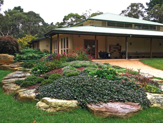 The meditation hall, at Blackheath, NSW Australia.
