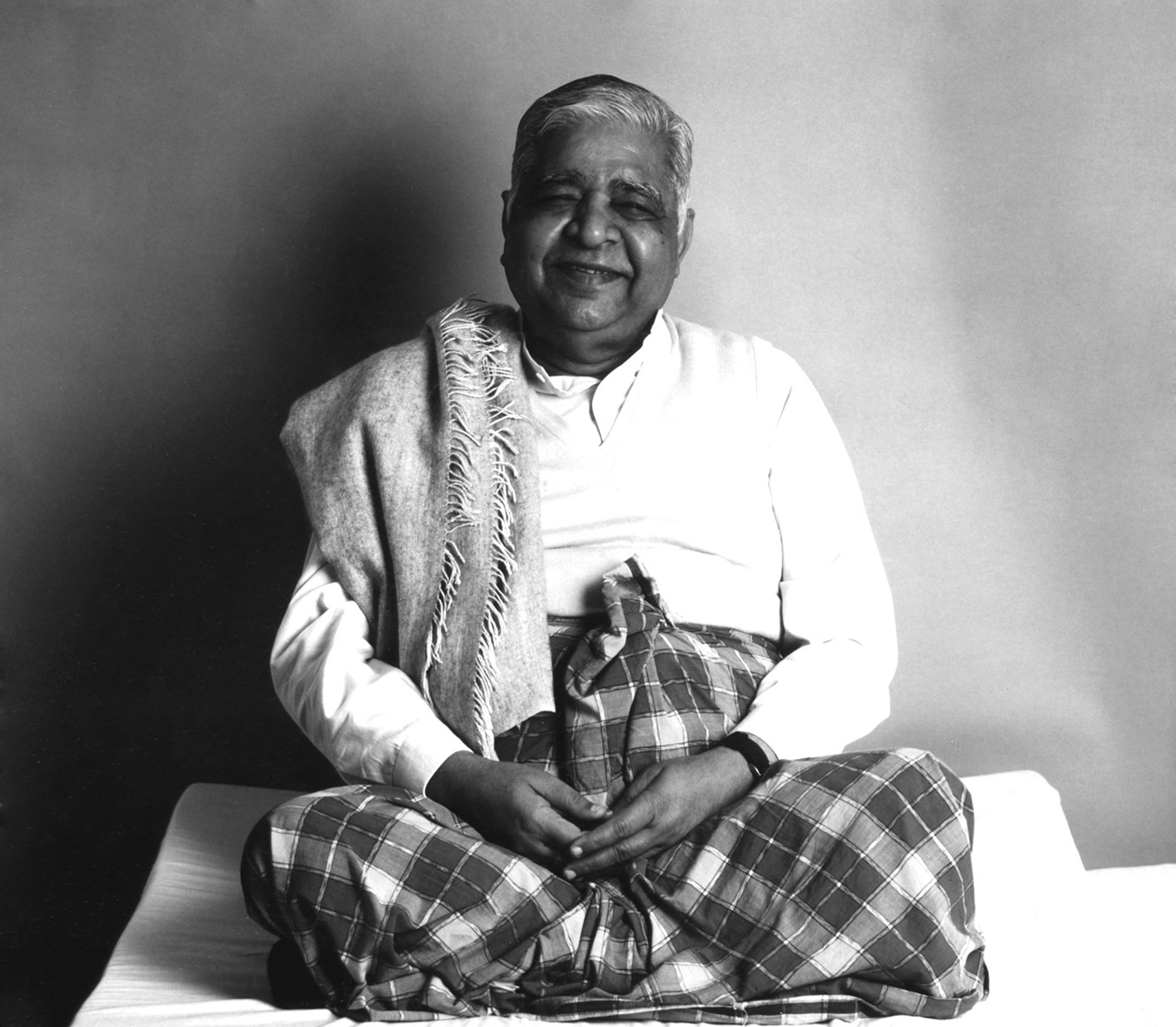 This is S.N. Goenka, the primary 'teacher' of the course, across the world. He has passed from this life, but his videos and audios still are the backbone of teaching the technique. He is so wonderful and you will no doubt fall in love with his storytelling and chanting as the course progresses.