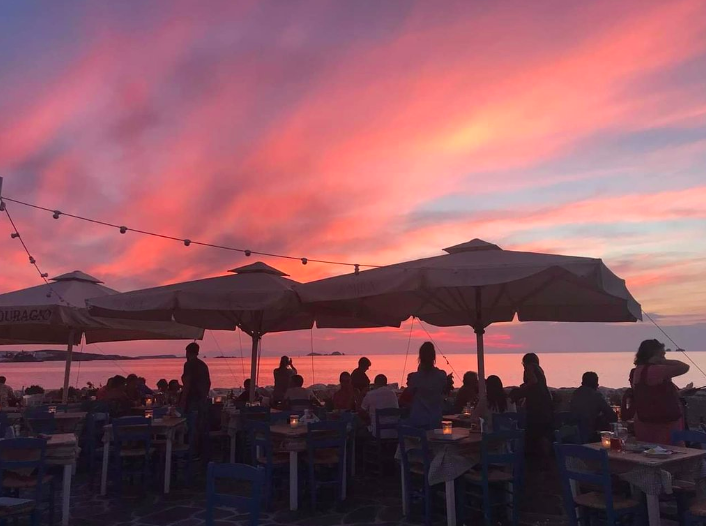 Sunset from Taverna Mira.