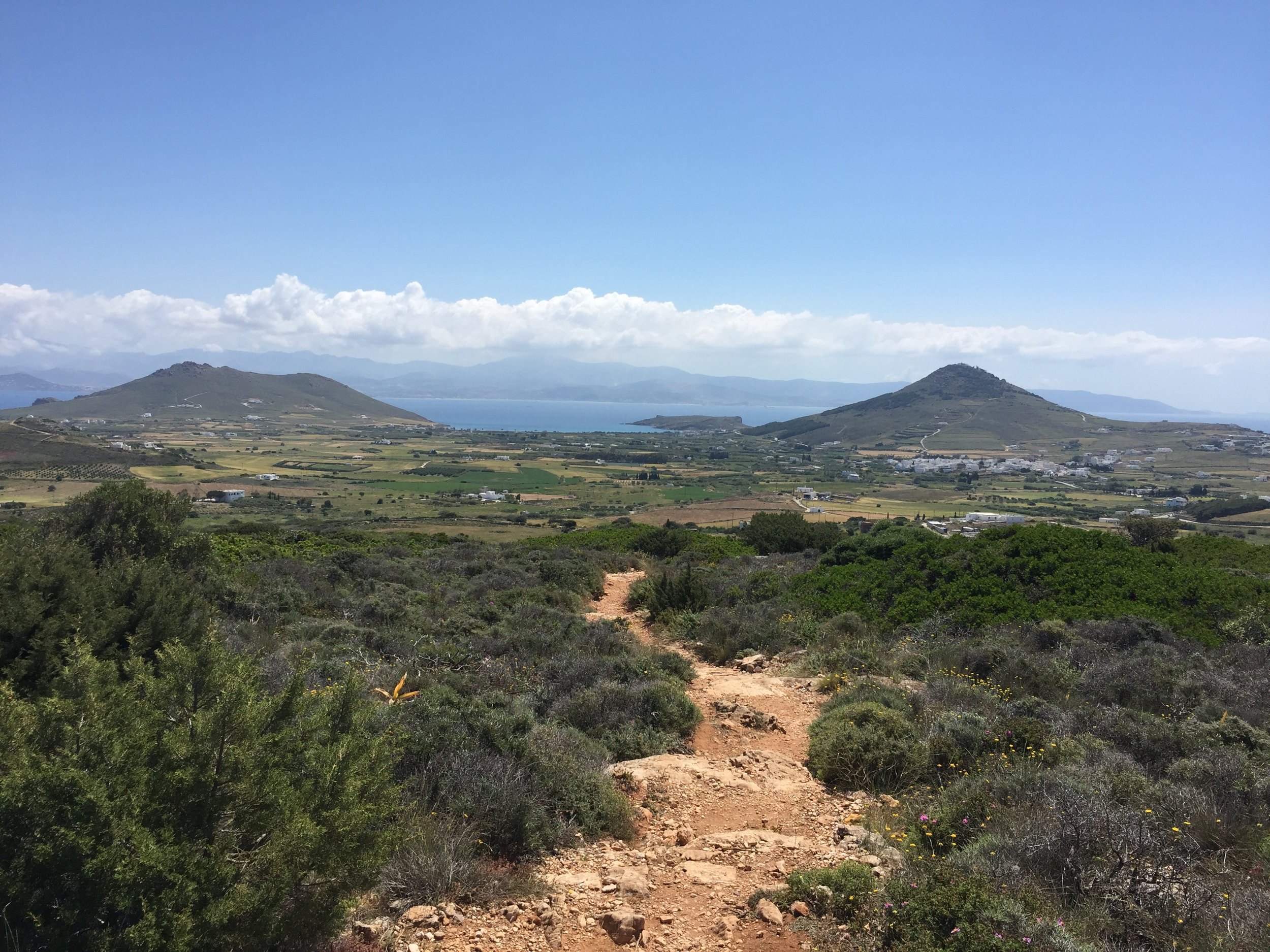 Views along the Byzantine trail, from Lefkes to Prodromos.