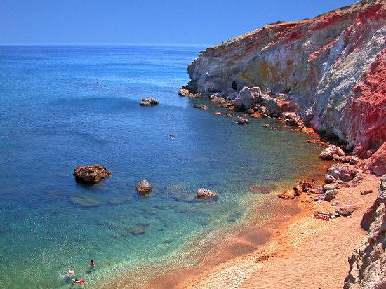Paliochori beach, in the South of Milos.
