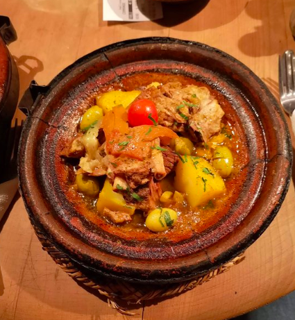 Lamb tagine from Café des Épices, Marrakech.