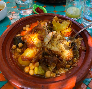 Authentic Moroccan couscous