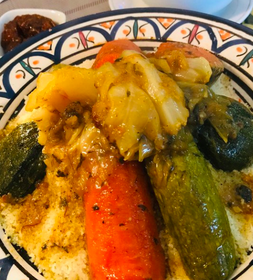 Couscous from Restaurant Saveurs du Palais in Casablanca
