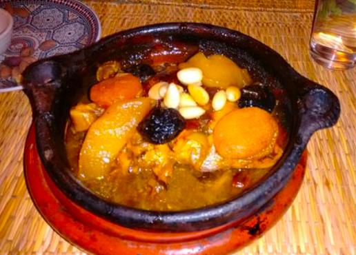 Dujaj bil berquq from Restaurant Tissemlal o Casa Hassan in Chefchaouen.