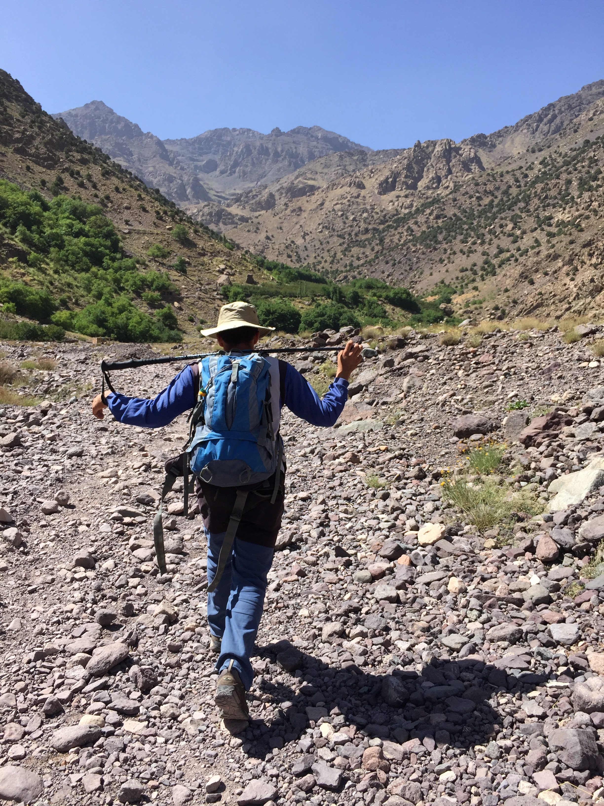 My wonderful guide up Toubkal, in the Atlas Mountains.