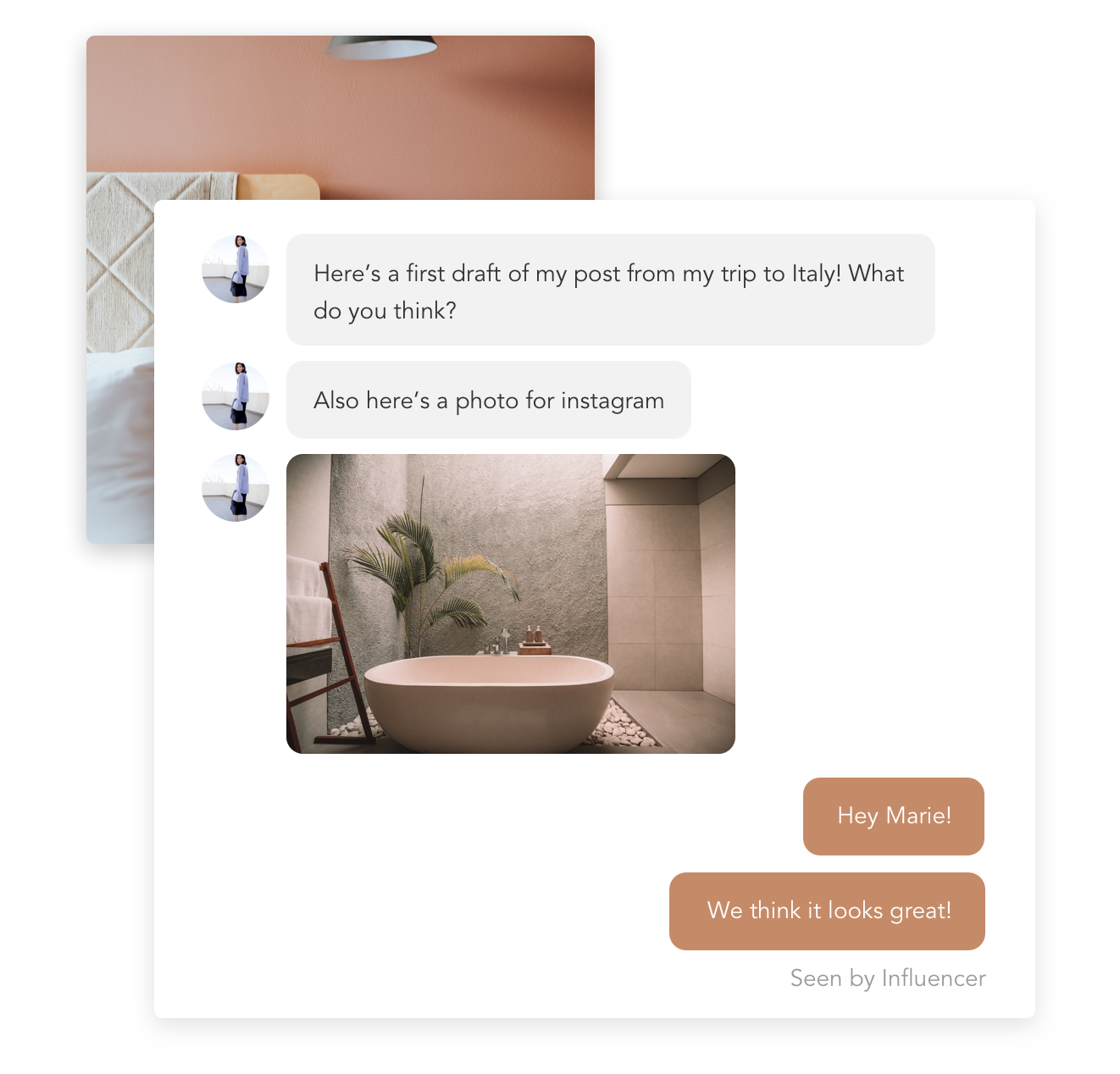 Multiple Campaigns, One Inbox - Easily community with your influencers with our universal messaging feature. Interchange all types of documents - images, videos, PDFs, the works.