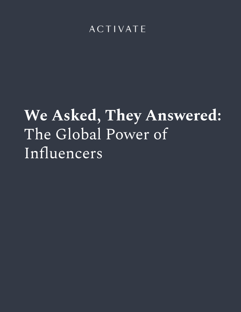 We Asked, They Answered_  The Global Power of Influencers Cover Page.png