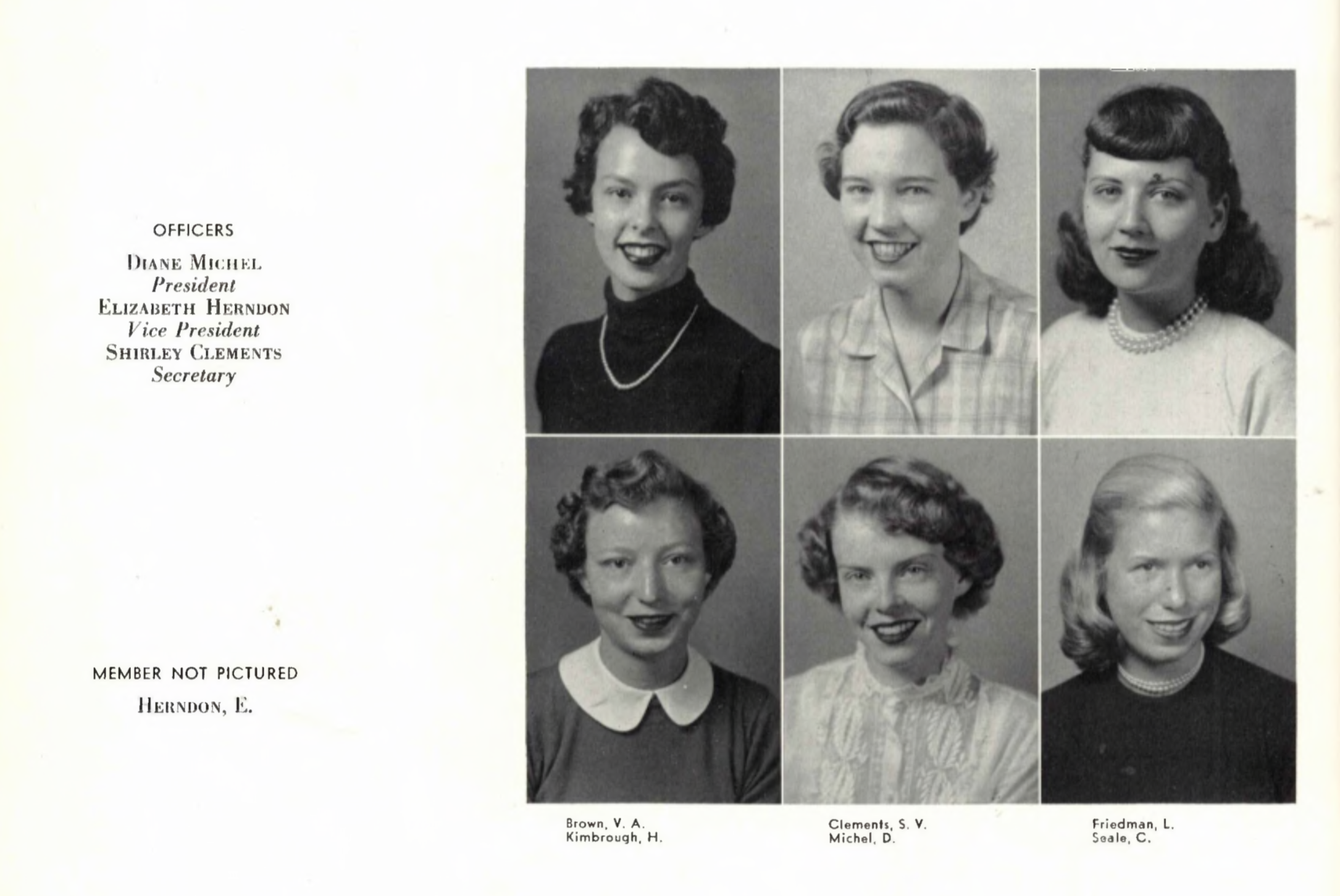 The founding members of Alpha Xi Delta in 1954.