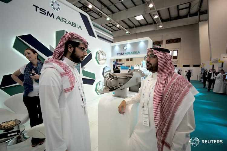 Visitors are seen at the TSM Arabia stand at the Middle East Process Engineering Conference & Exhibition in Manama, Bahrain, October 9, 2016. Image used for illustrative purpose only  REUTERS/Hamad I Mohammed