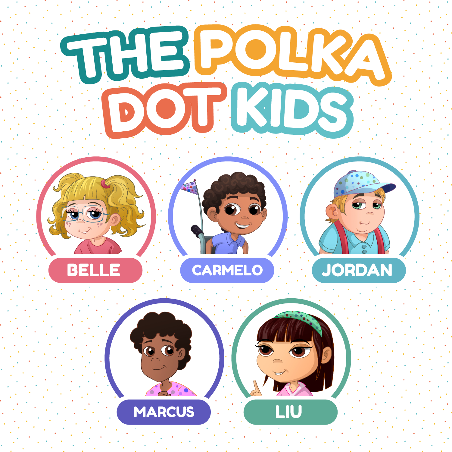 The Polka Dot Kids are not your average heroes! Together this group of typical and special needs kids solve mysteries and fight crime in the most unusual ways.