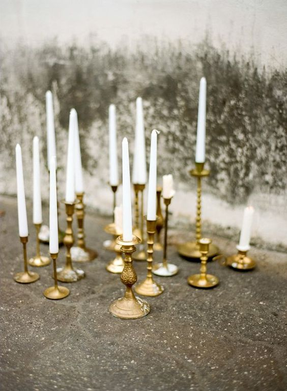 Candle-Sticks - Whether you're planning an event table or if you simply need a great centerpiece at home, a plethora of candlesticks can be found in malls like ours. Sand down wooden ones for a  weathered look or snag several different metallic ones for a little added glitz!