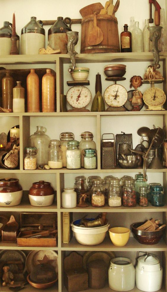 Collect - Don't just decorate, collect! The kitchen is a great place to start and share a collection. Old soda bottles, antique china, & rolling pins, are an easy way to get things started without breaking the bank.