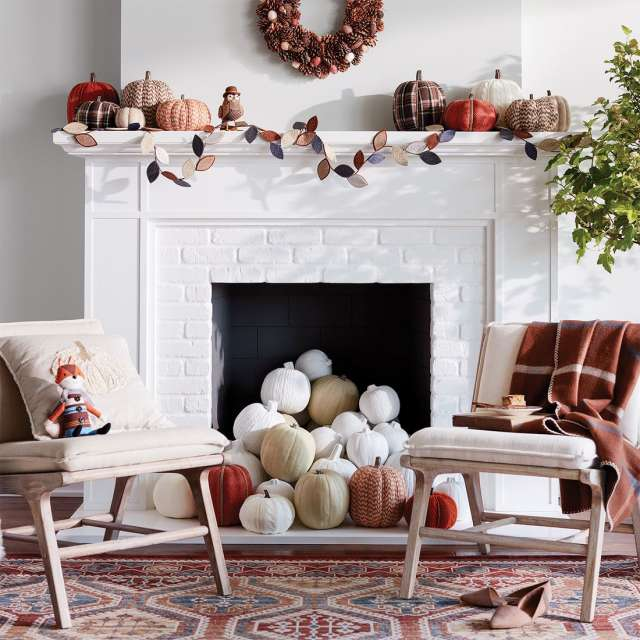 Less Isn't Always More - Fall only comes around once a year, so why not go all-out? When it comes to pumpkins + gords, the many always look better than the few.