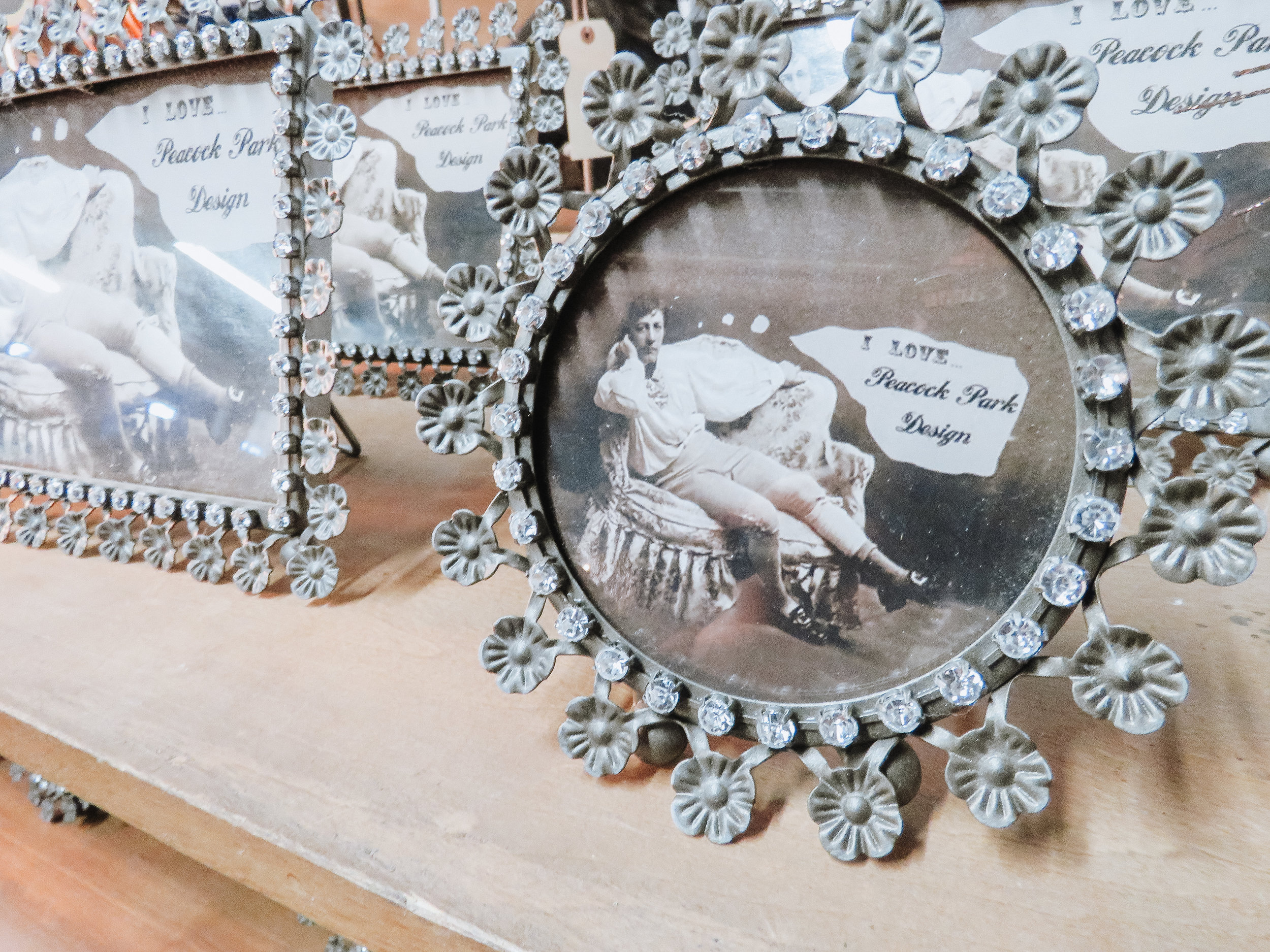 Picture Frames - Find a vintage frame to stick your recipient's photo in or write their name on some paper and stick it in the frame as a photo replacement. Attach with some string, and you're in business!