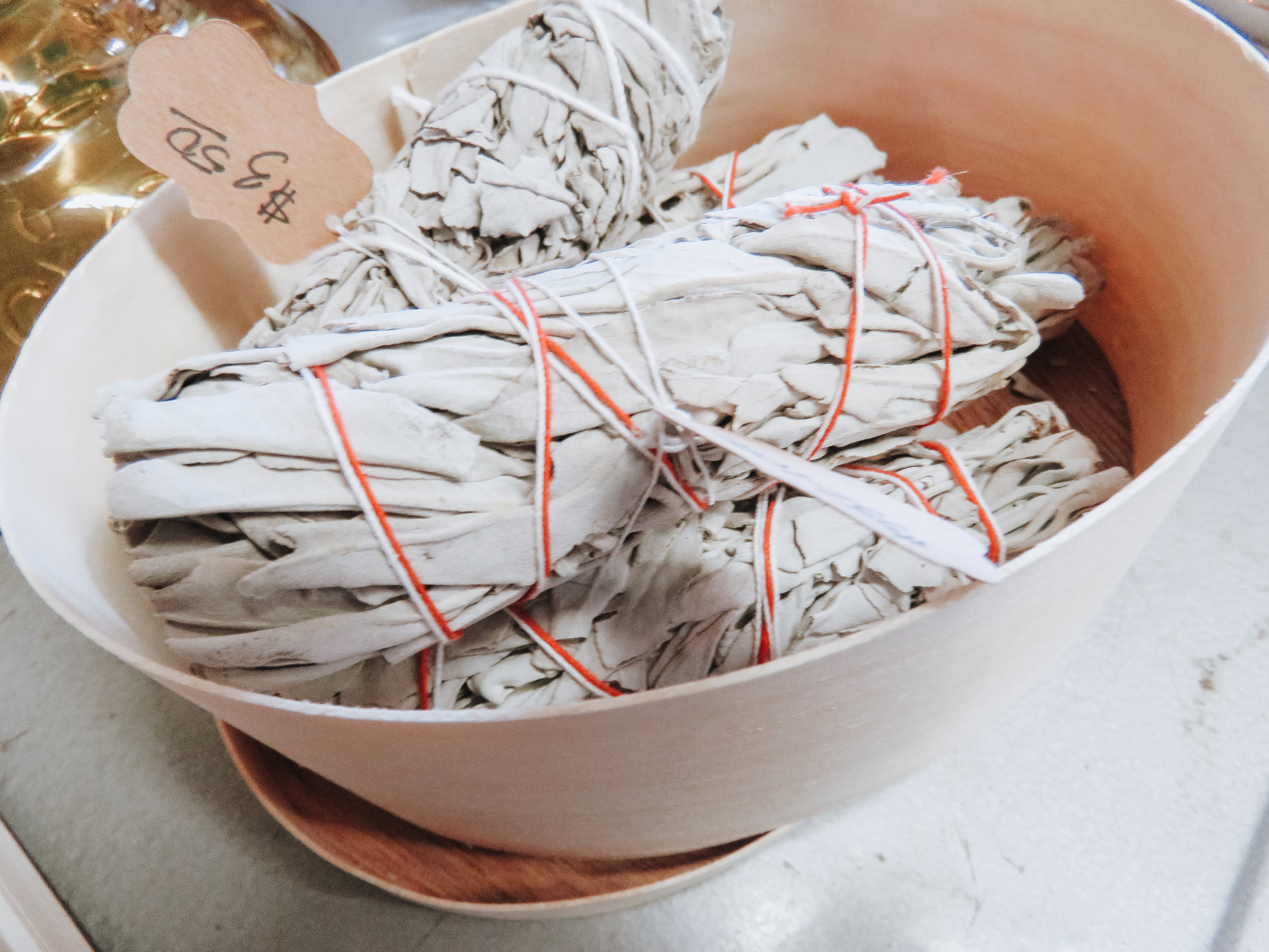 Tied Up With String - Top your gifts with some sage to add a fun earthy element (not to mention how great it smells!)