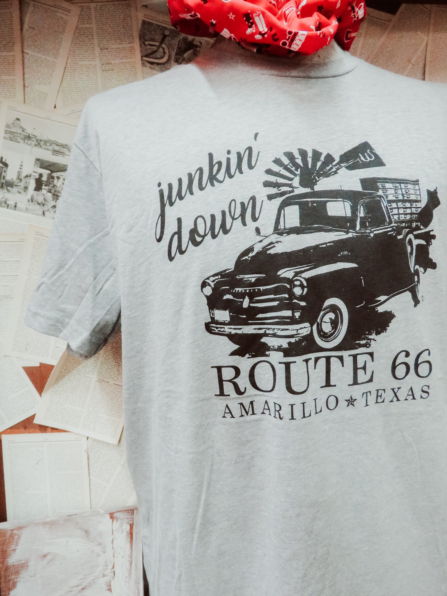 Tees - Adding a new piece to your travel wardrobe might be just what you're looking for! Several vendors carry clothing specific to Amarillo + Route 66.