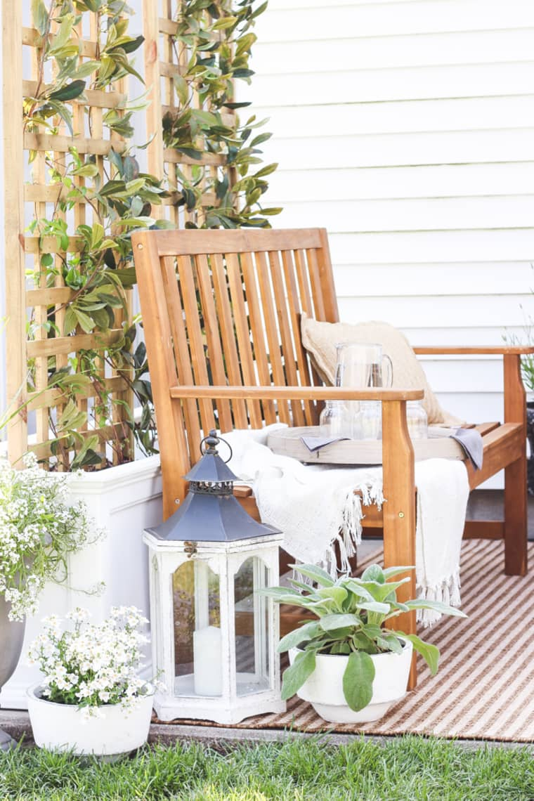 Take A Seat - Find a great vintage bench to add some additional seating to your patio!
