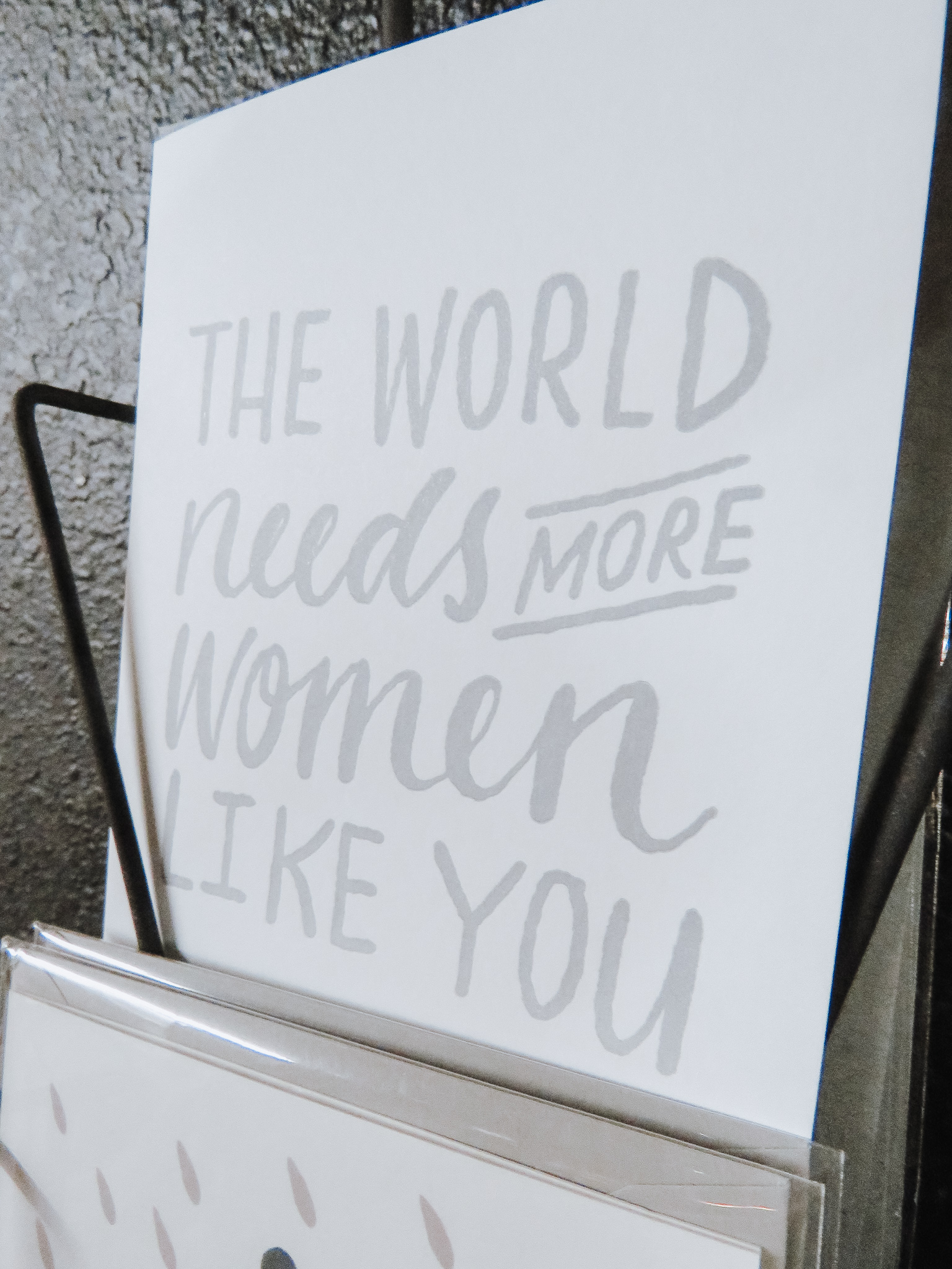 Say Something - Several of our vendors carry handmade and letter-pressed cards for every occasion. Find the perfect one for your loved one.