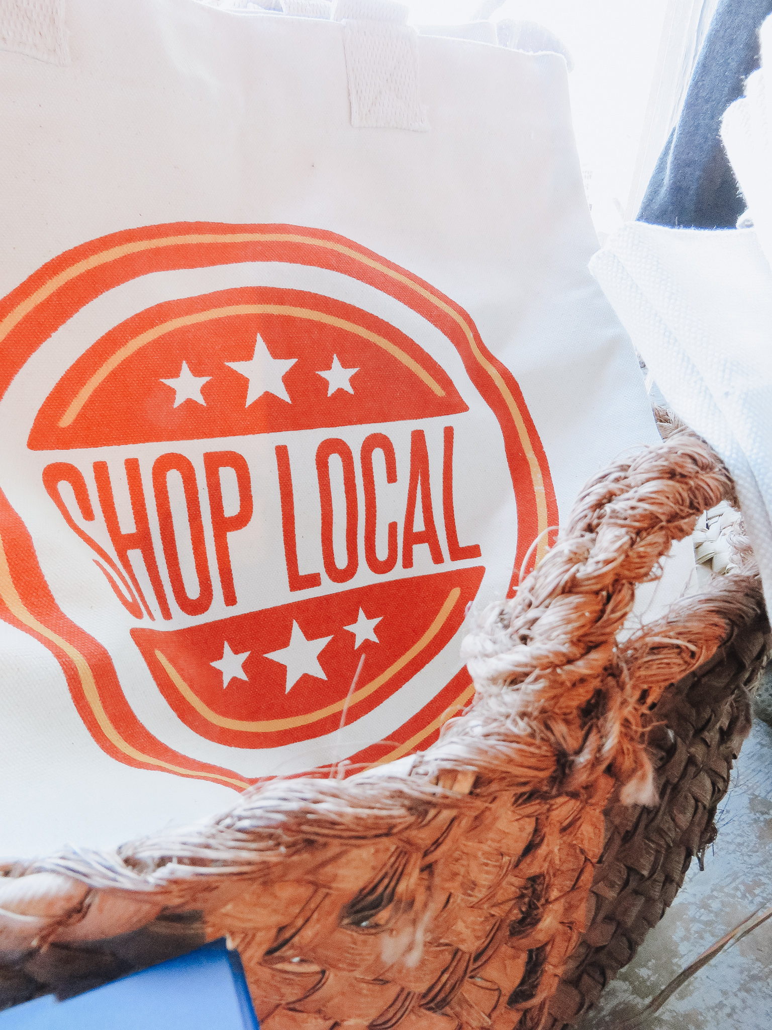 Shop Smart - A tote bag is a great multi-purpose gift! The Community Market is right around the corner; let your mom shop in style with one of the many tote bags we're currently carrying!