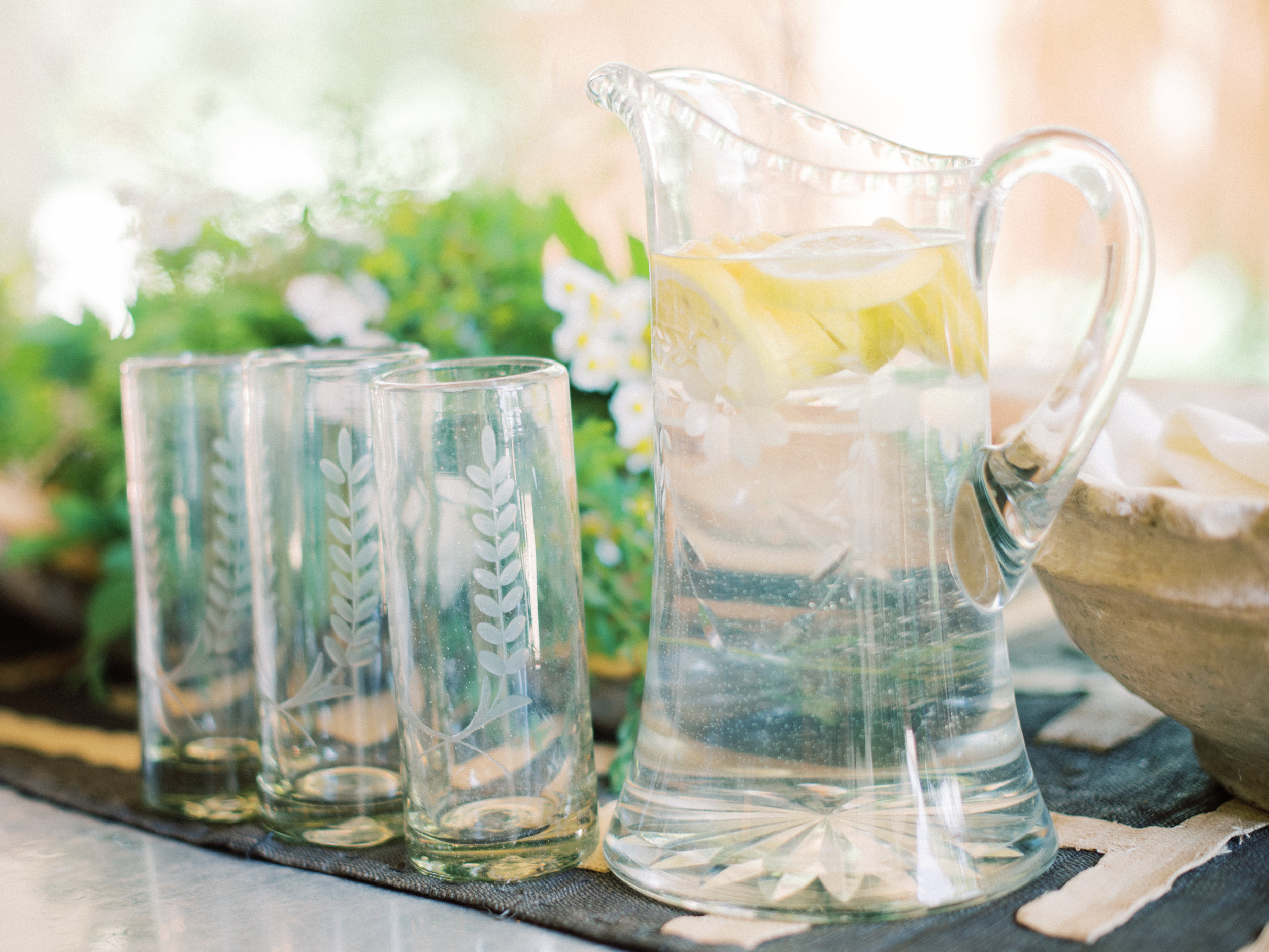 Etched Glass - If you have ever been in The NAT, you know that we are big fans of etched glass! They add a little something special to your everyday drinkware. You can find beautifully ornate etched pieces or even something simple and dainty.
