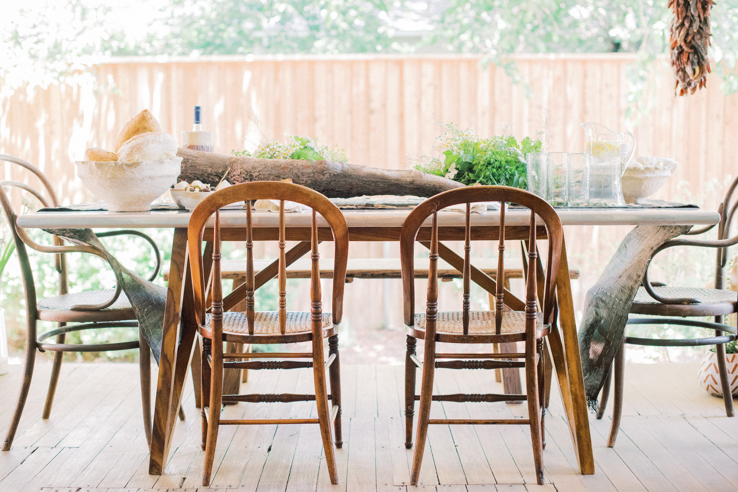 Seating - One of the big trends in weddings is mix/match chairs. We're here to tell you that it doesn't only have to happen at a big event. The mix added to your home or patio makes everything a little more interesting!