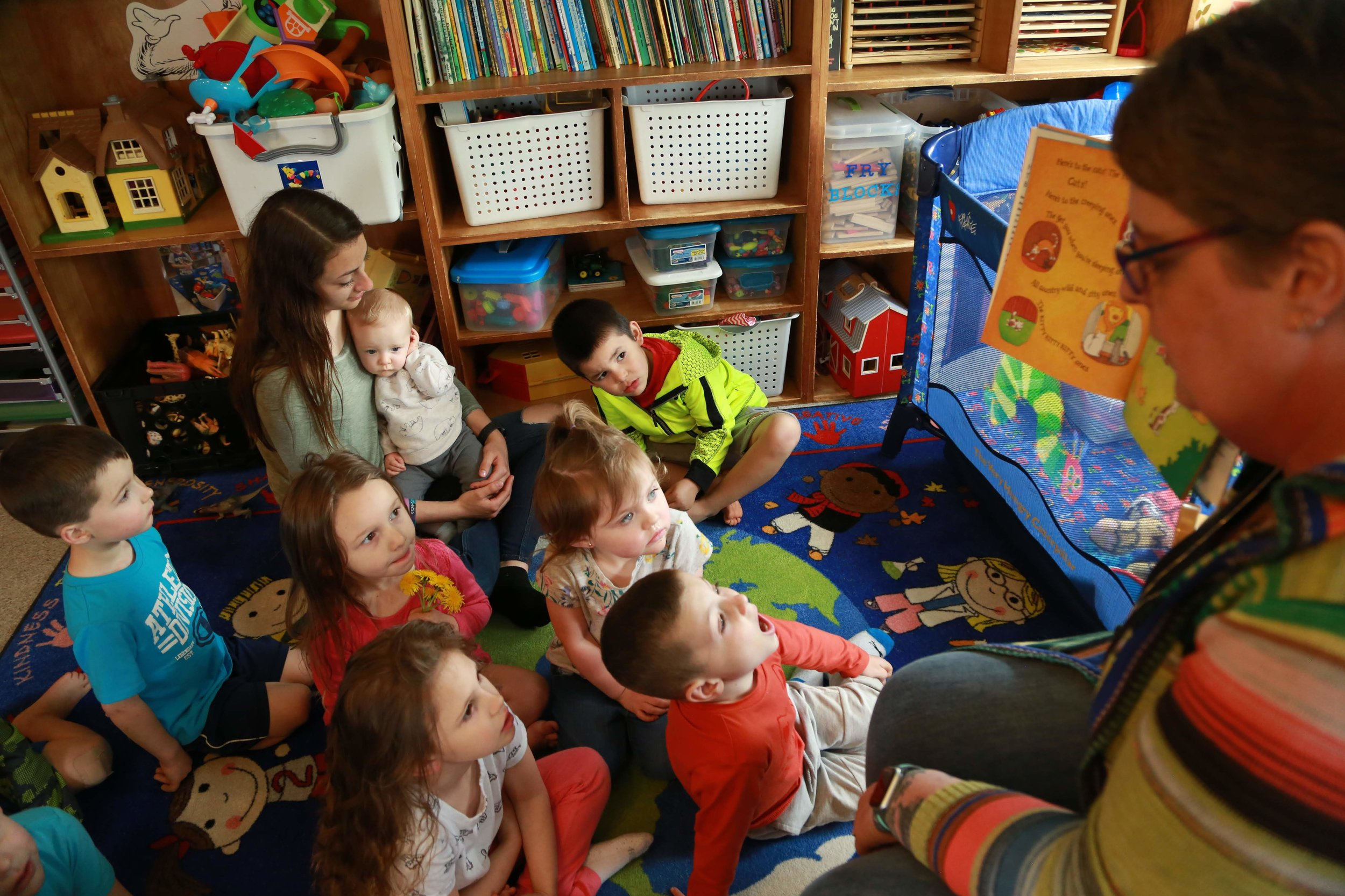 Story time at Lots of Tots in Princeton.