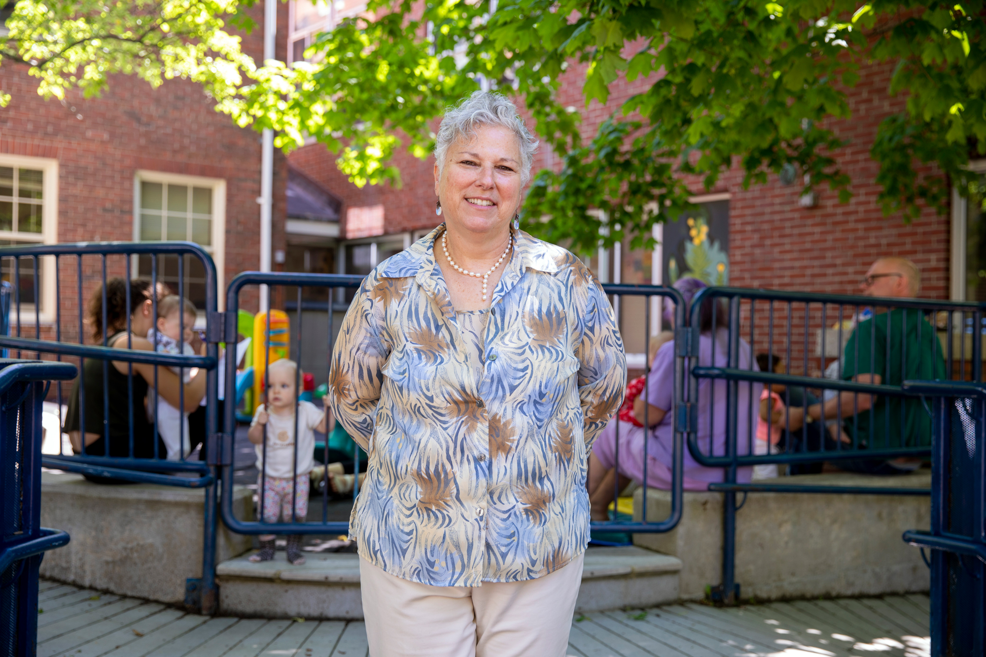 Lori Moses, executive director of Catherine Morrill Day Nursery in Portland. (Maine Public photo by Rebecca Conley)