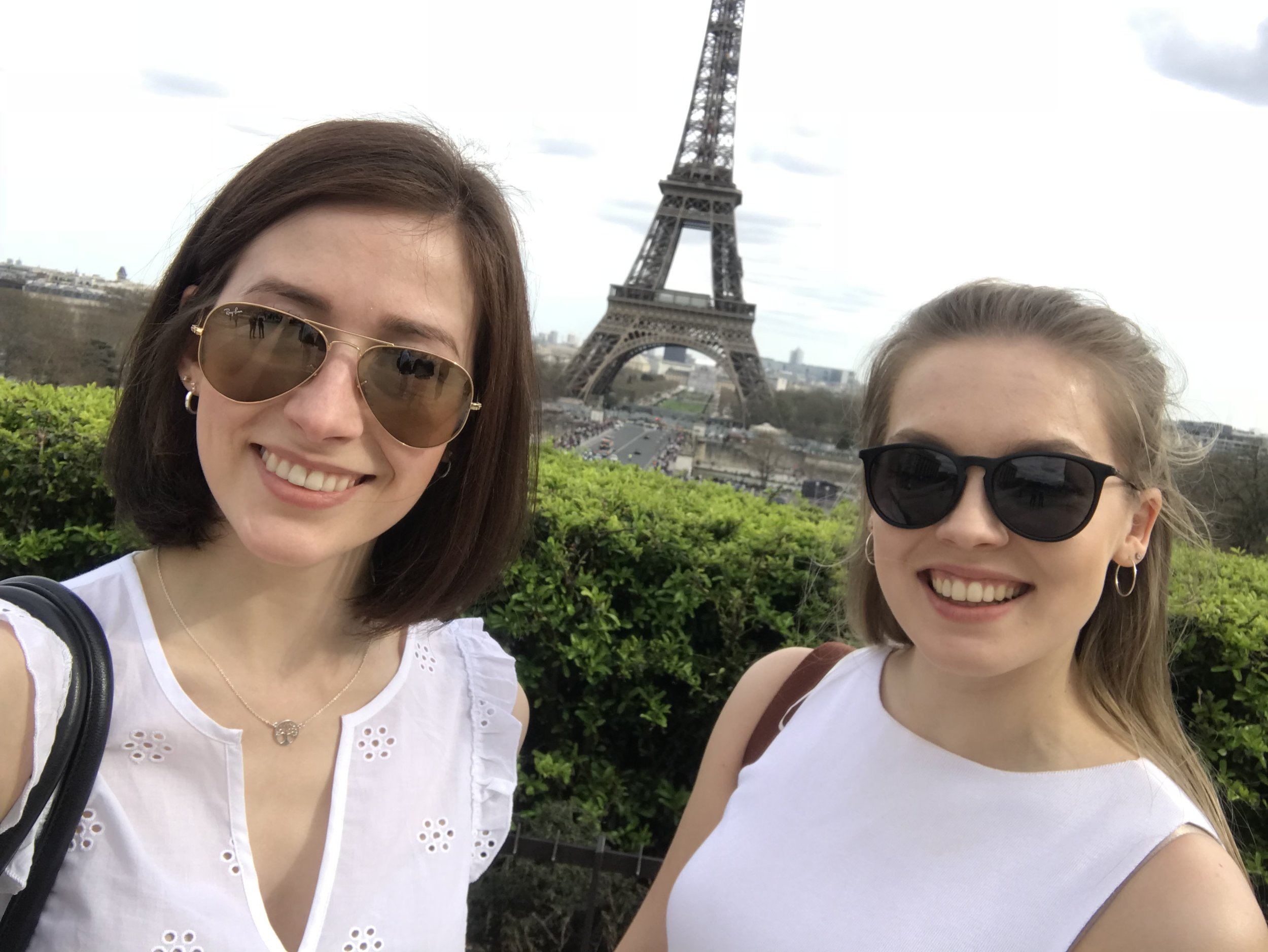 Flora (right, pictured with her friend) says using her Monzo card helps her save for holidays, and she used it in Paris with no problems too.