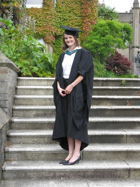 Vicki Owen at her graduation