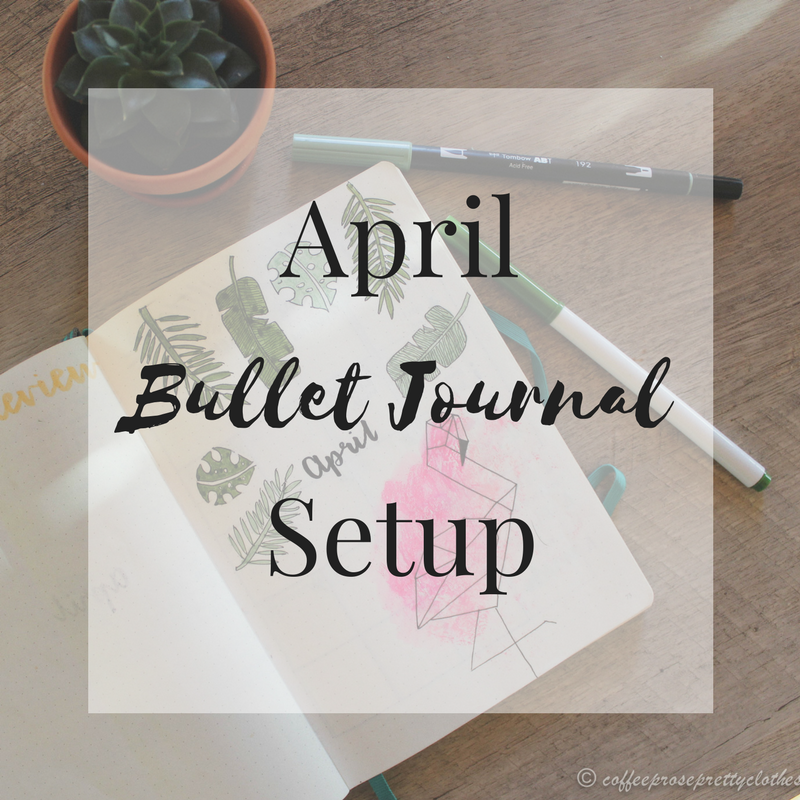 April Bullet Journal with Tropical leaf theme