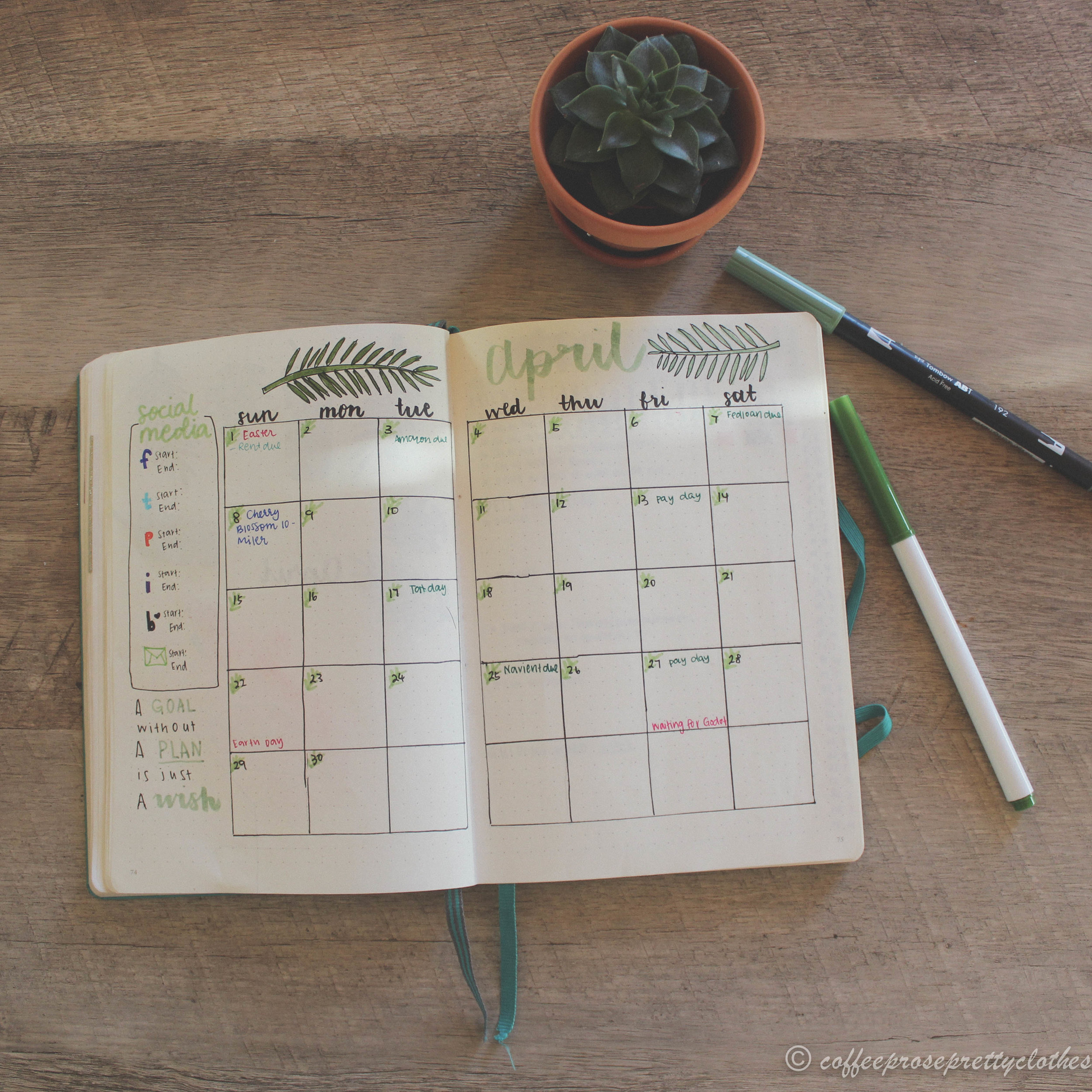 April Bullet Journal Setup Coffee Prose And Pretty Clothes Whether its for a summer spread or a tropical spread, these 33 tropical inspired bullet journal spreads are sure to make you feel like taking a holiday! april bullet journal setup coffee