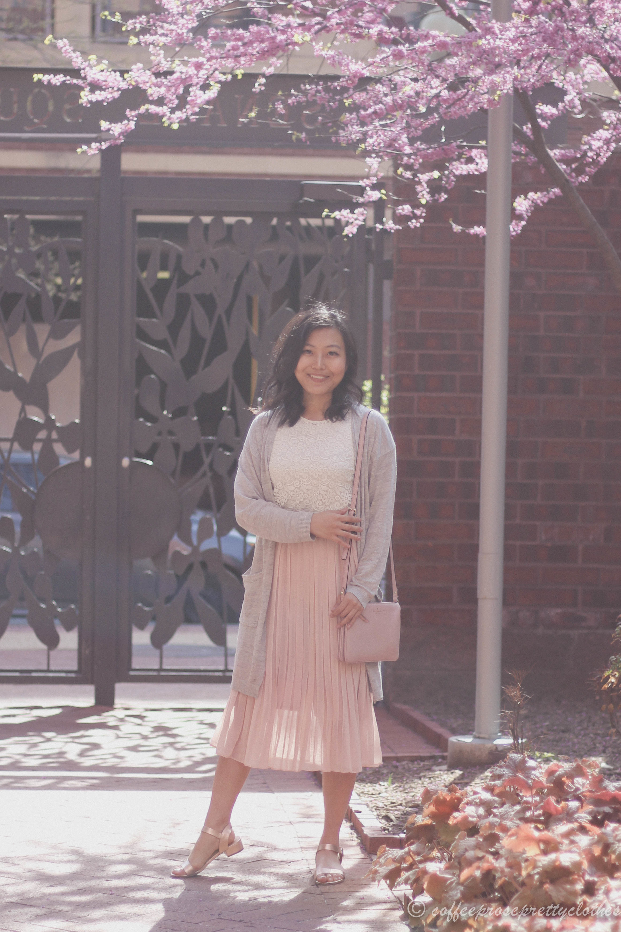 Blossoms | Lace Scallops and Pleated Midi