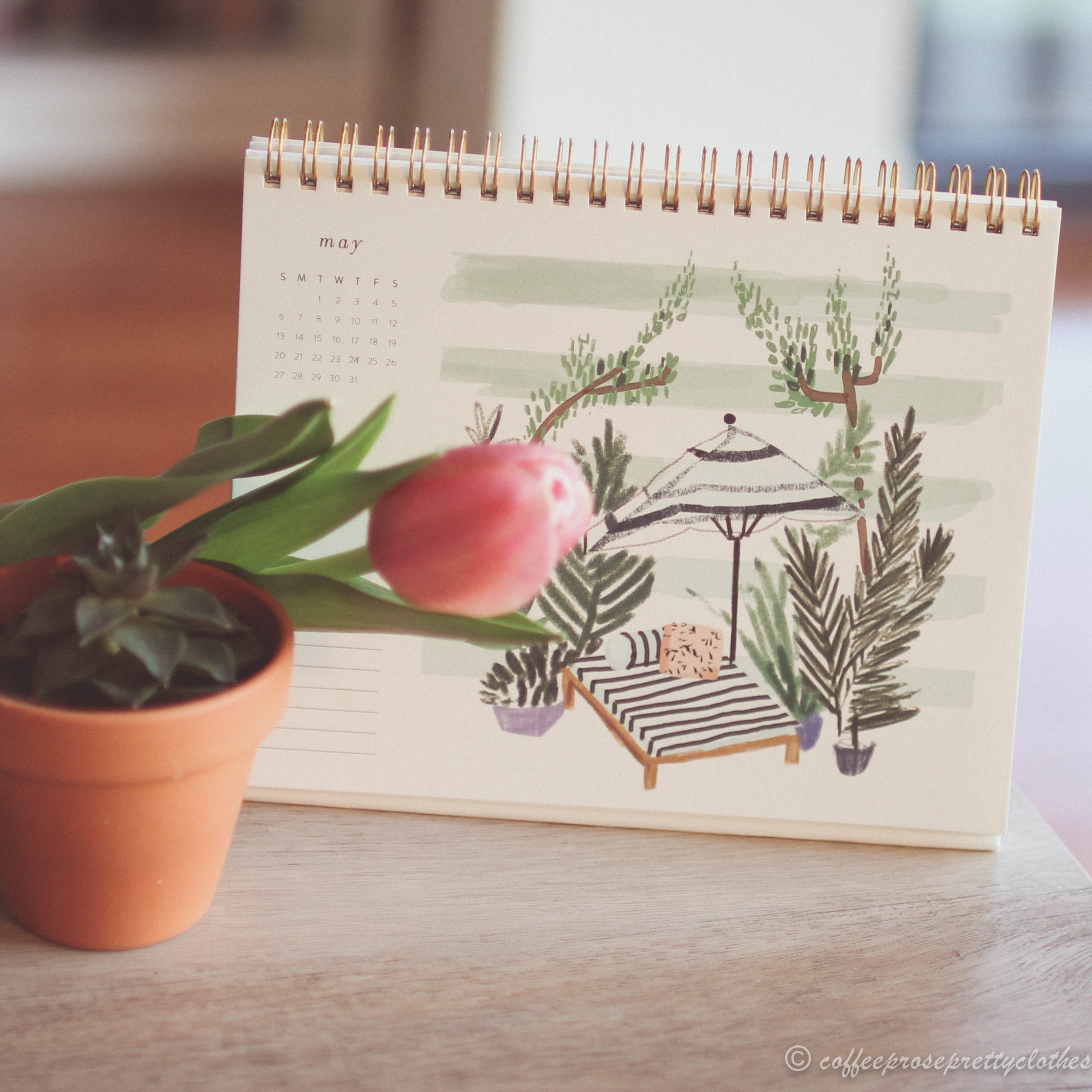 Petite Places Desk Calendar from Anthropologie