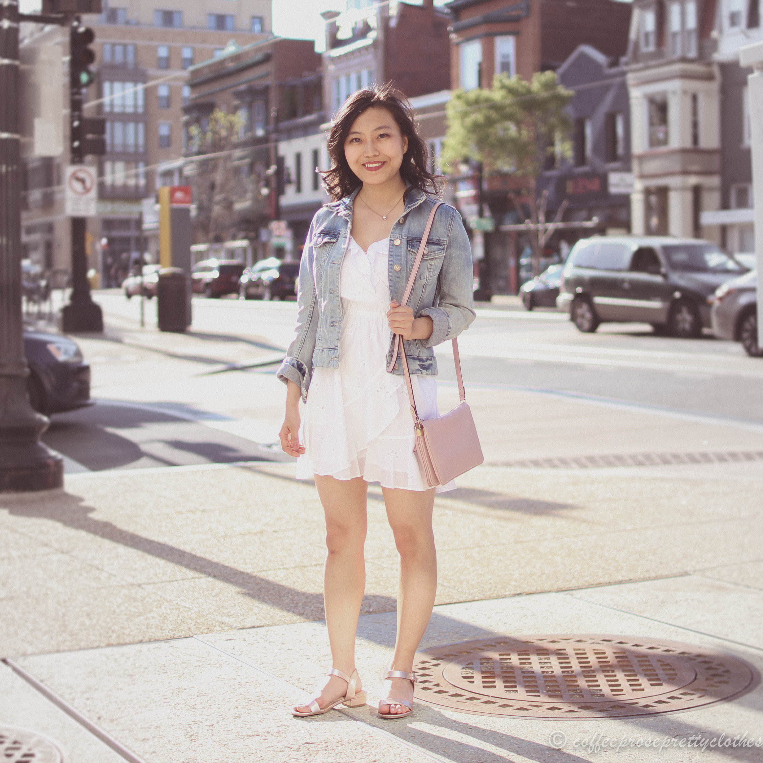 Eyelet Ruffles and Denim Jacket