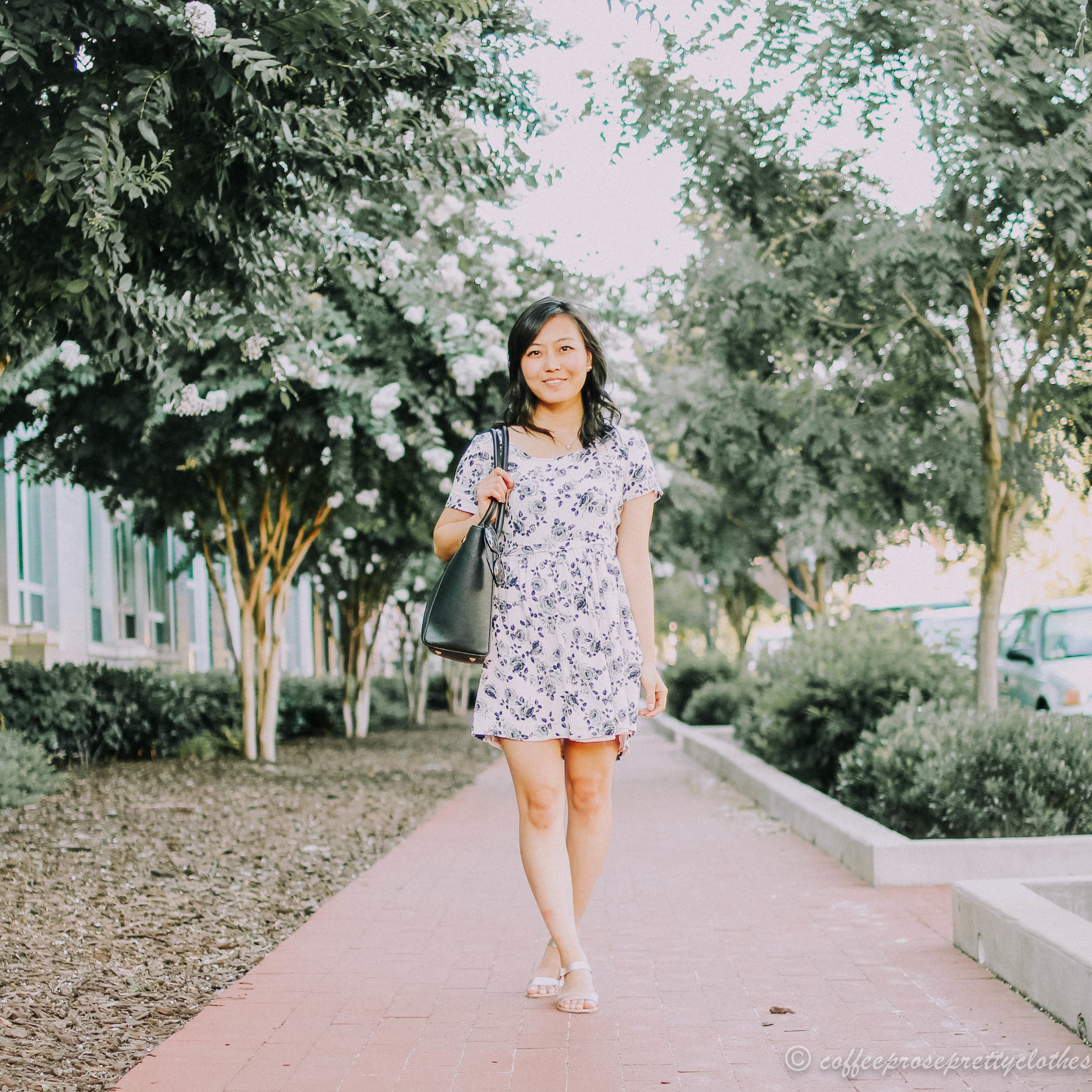 Floral Dress and Dagne Dover