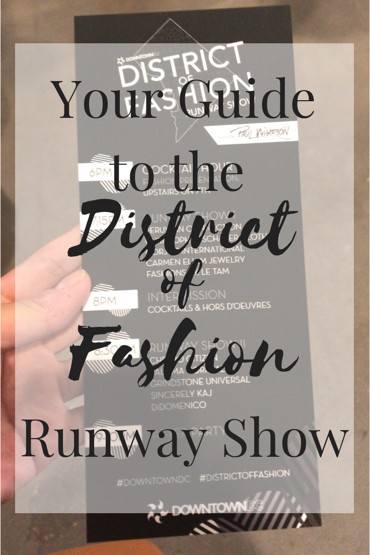 District of Fashion Runway show Guide