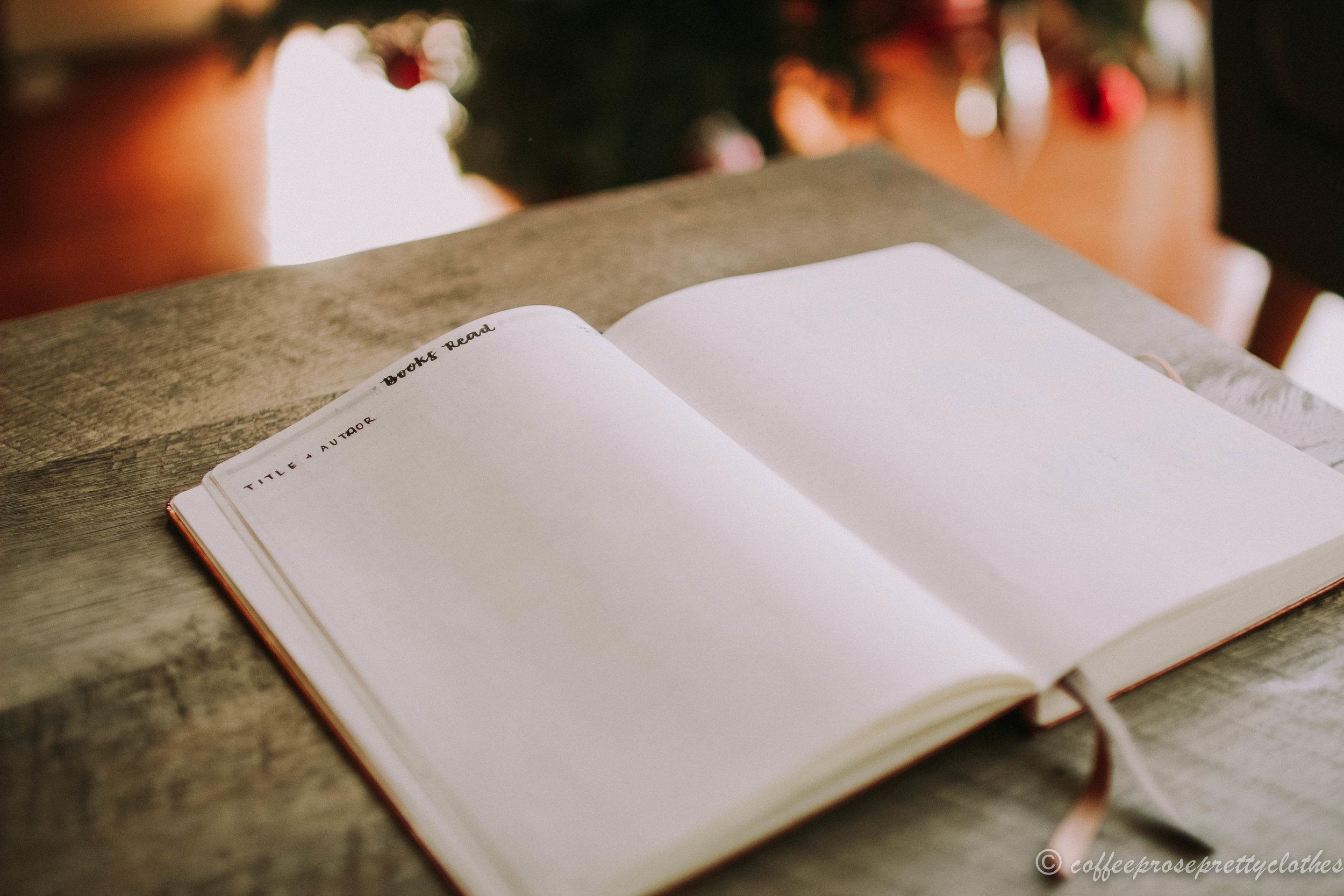 2019 Bullet Journal Setup Books Read