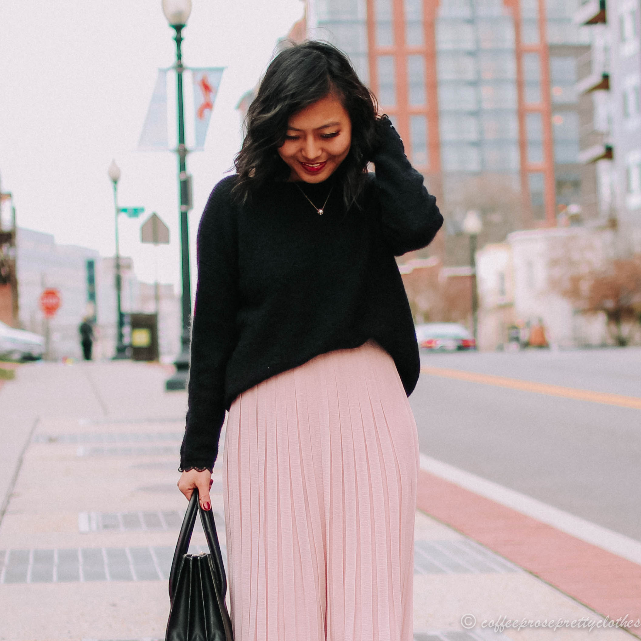 Sézane Nicky Jumper and Pleated Midi Skirt