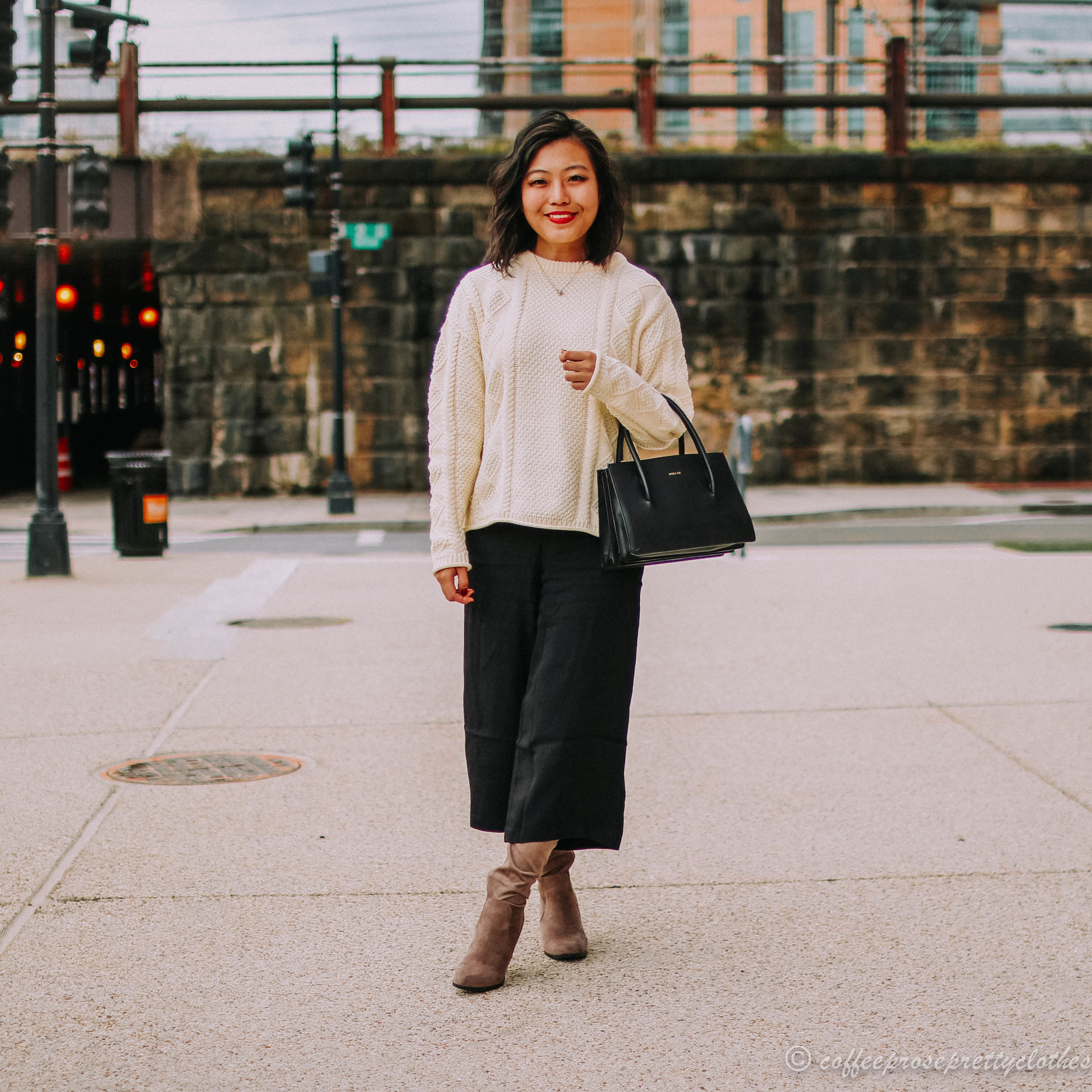 Culotte Pants and Tall Boot