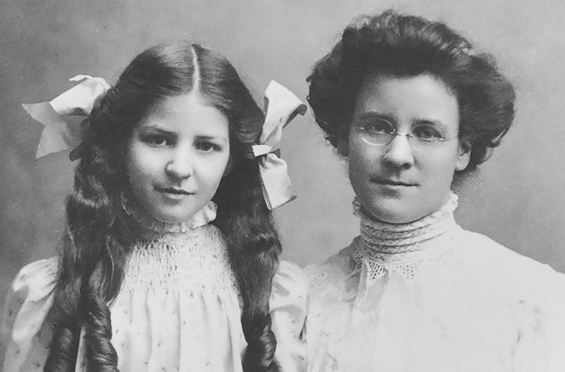 Young Isabel and Katherine. Credit: Meyers & Briggs Foundation.